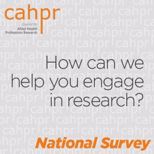 CAHPR would like to hear your views on what is needed from an AHP research support network
